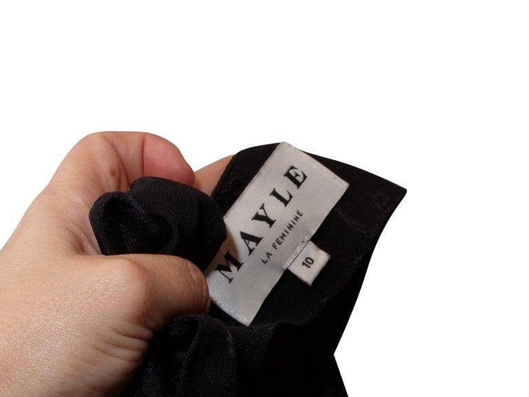 Women's Mayle Black Tonal Floral Jumpsuit For Sale