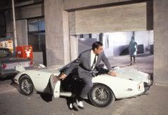 James Bond Running Beside Car Fine Art Print