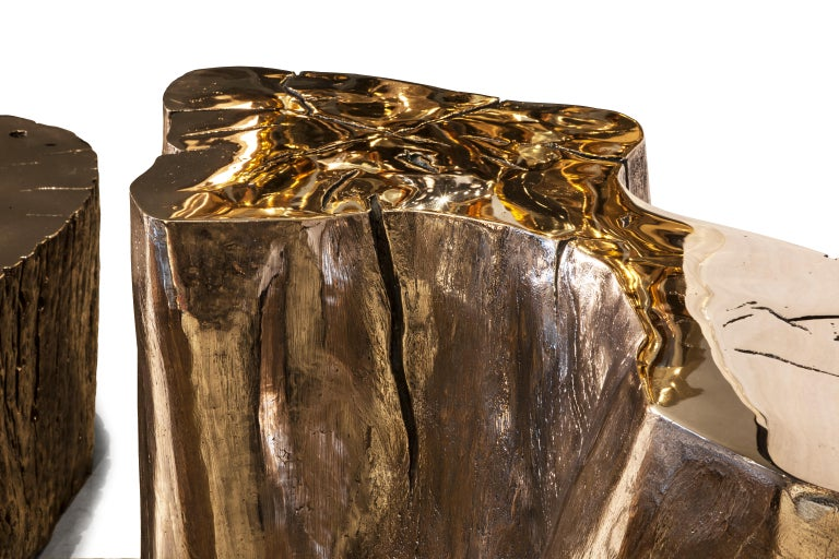 Polished Mayson Side Table #2 by Barlas Baylar For Sale