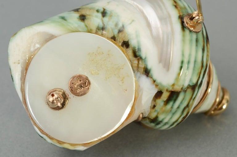 Women's or Men's Maz Shell Brooch For Sale