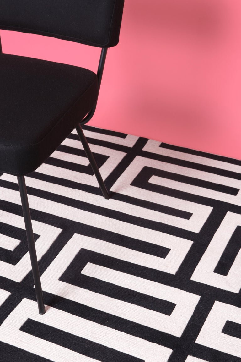 Modern Maze Standard Rug by CC-Tapis For Sale