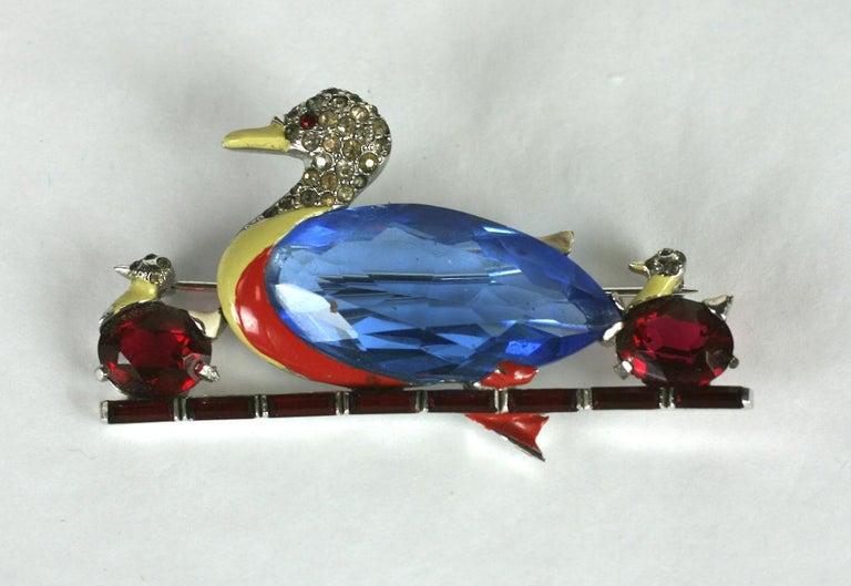 Mazer Art Deco Duck Brooch For Sale 1