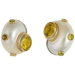 Mazza Bros. Turbo Shell Earrings