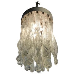 Mazzega Attributed Hand Blown Chandelier