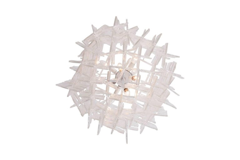 Mazzega Carlo Nason Interlocking Large Murano Chandelier In Excellent Condition For Sale In Antwerp, BE