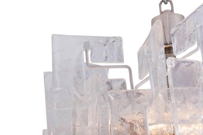 Mid-20th Century Mazzega Carlo Nason Interlocking Large Murano Chandelier For Sale