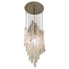"""Mazzega Ceiling Chandelier """"Torciglione"""", 1970s"""