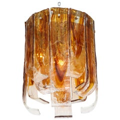Mazzega Clear, Amber Flush Mount