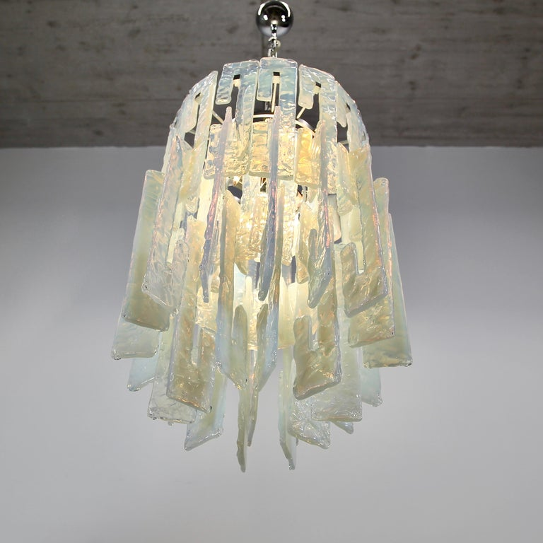 Mid-20th Century Mazzega Glass Chandelier, 1960s For Sale