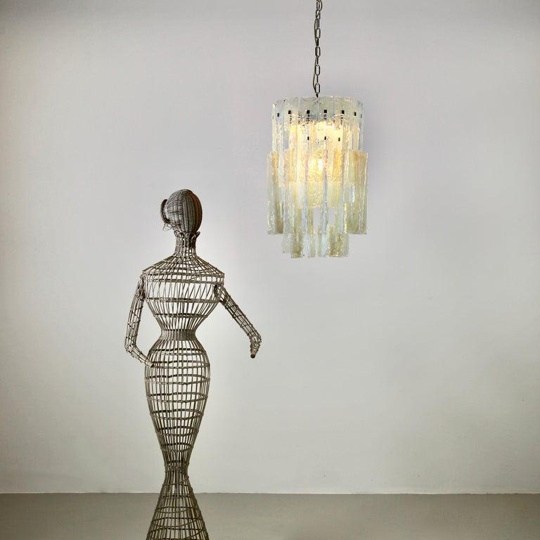 Mazzega Glass Chandelier, 1960s For Sale 1