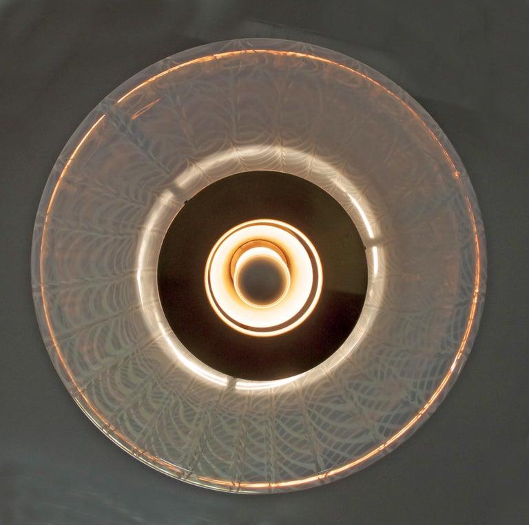 Mazzega Mid-Century Modern Blown Murano Glass Italian Chandelier, 1960s In Good Condition For Sale In Cerignola, Italy Puglia