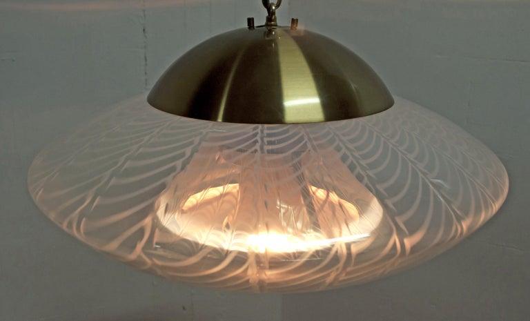 Mazzega Mid-Century Modern Blown Murano Glass Italian Chandelier, 1960s For Sale 1