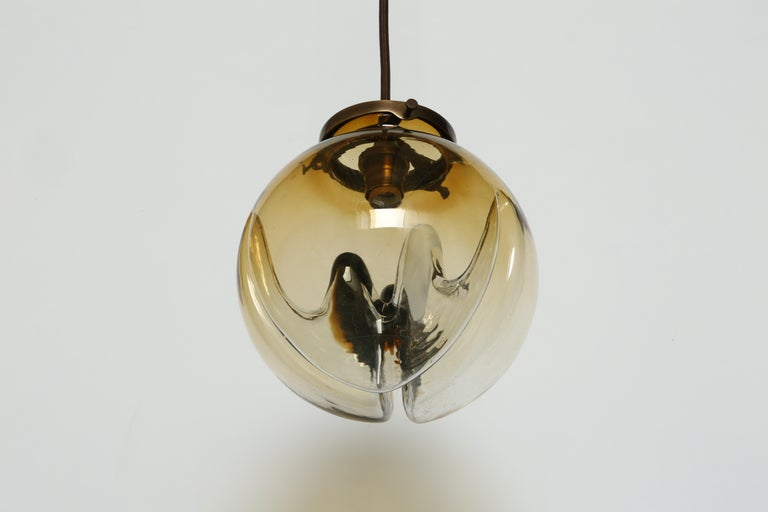 Mazzega Murano Glass Ceiling Pendants, Set of Three For Sale 12