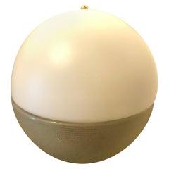 Mazzega Space Age Gold and White Murano Glass Italian Table Lamp, circa 1965