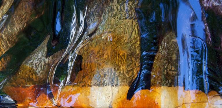 Mazzega Square Murano Glass Wall Light Flush Mount In Good Condition For Sale In Munich, DE