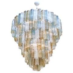 Mazzega Style Multicolored Murano Glass Chandelier