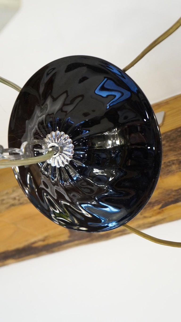 Mazzucato Mid-Century Modern Black Italian Murano Glass Chandelier, 1984 For Sale 5