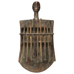 Mbira or Sanza Congo Early 20th Century African Tribal Musical Instrument