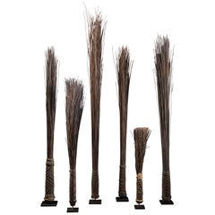 Mbole People, DRC, Chief Scepters Collection Made of Palmtree Leaf Midribs