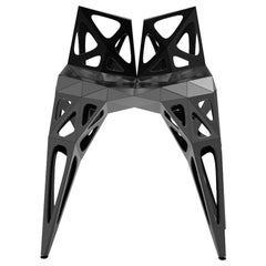 MC03 Endless Form Chair Series Stainless Steel Customizable Black and Sliver