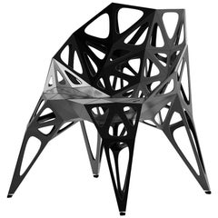 MC04 Endless Form Chair Series Stainless Steel Customizable Black and Sliver