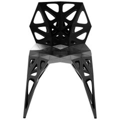 MC07 Endless Form Chair Series Stainless Steel Customizable Black and Sliver