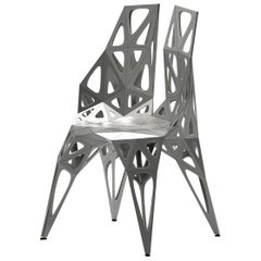 MC10 Endless Form Chair Series Stainless Steel Customizable Black & Sliver