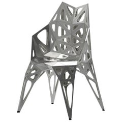 MC11 Endless Form Chair Series Stainless Steel Customizable Black and Sliver