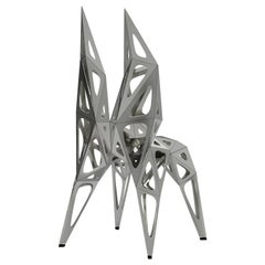 MC14 Endless Form Chair Series Stainless Steel Customizable Black and Sliver