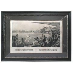 MCC Australia v. England Cricket Photogravure