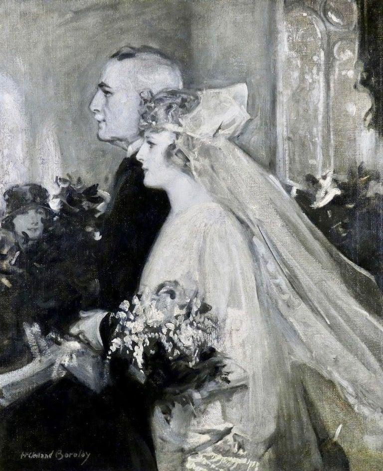 McClelland Barclay Figurative Painting - Wedding Scene