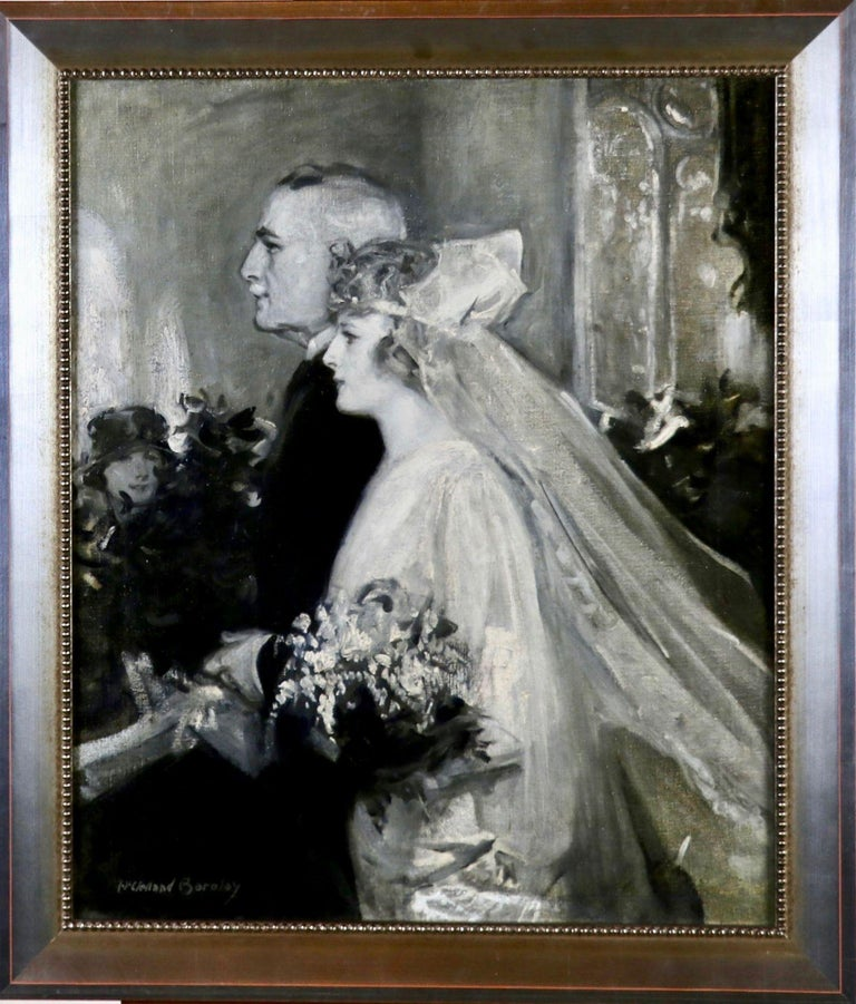 Wedding Scene - Painting by McClelland Barclay