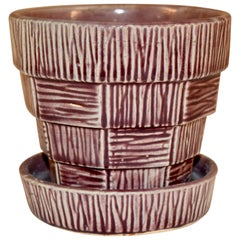 McCoy Flowerpot with Attached Saucer