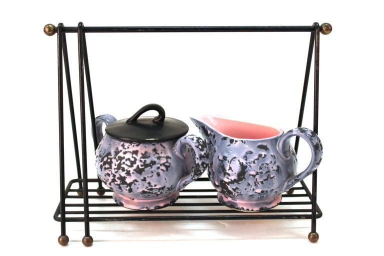 McCoy Mid-Century Modern Ceramic Tea or Coffee Set For Sale 1