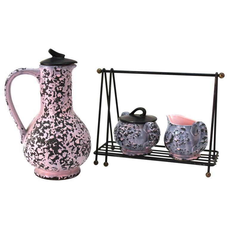 McCoy Mid-Century Modern Ceramic Tea or Coffee Set For Sale