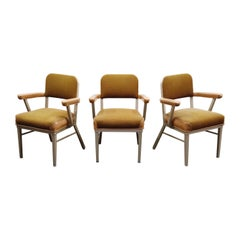 McDowell-Craig Industrial Steel Armchairs, circa 1960, Signed