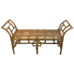 McGuire Bamboo and Rattan Long Bench