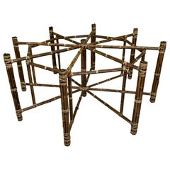 McGuire Bamboo and Raw Hide Octagonal Dining Table