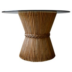 McGuire Bamboo Dining Table Wheat Sheaf