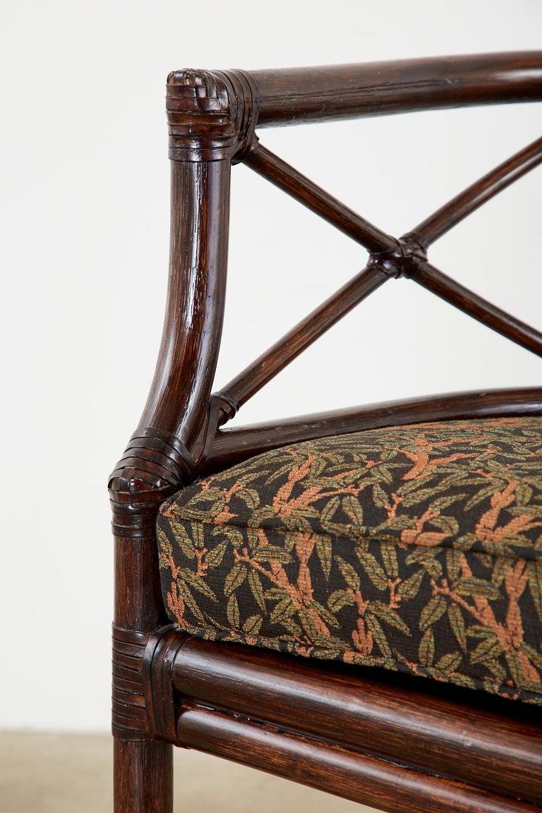 McGuire Bamboo Rattan Organic Modern Gondola Settee Bench For Sale 5