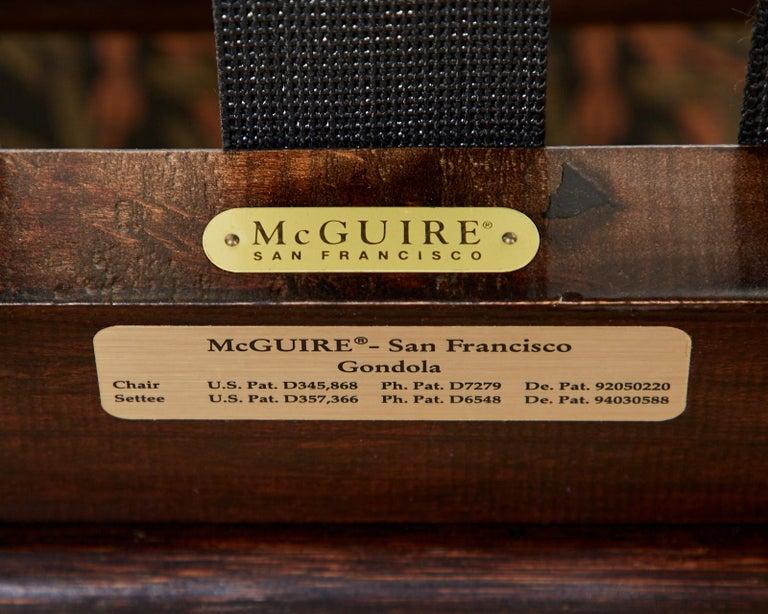 McGuire Bamboo Rattan Organic Modern Gondola Settee Bench For Sale 11