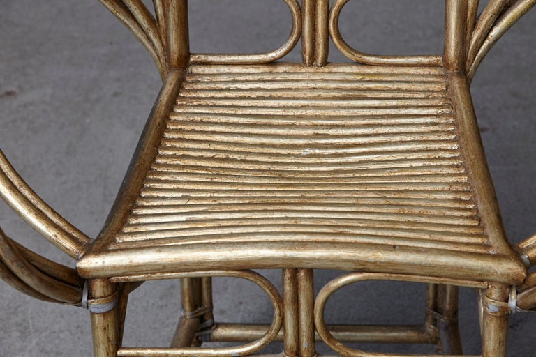 McGuire Butterfly Chair, M-131 in Gold Tone Finish For Sale 3