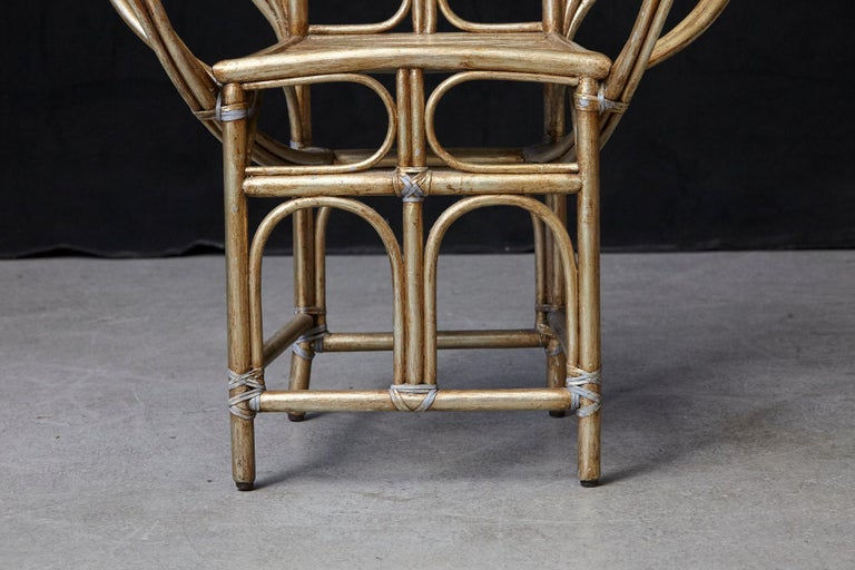 McGuire Butterfly Chair, M-131 in Gold Tone Finish For Sale 4