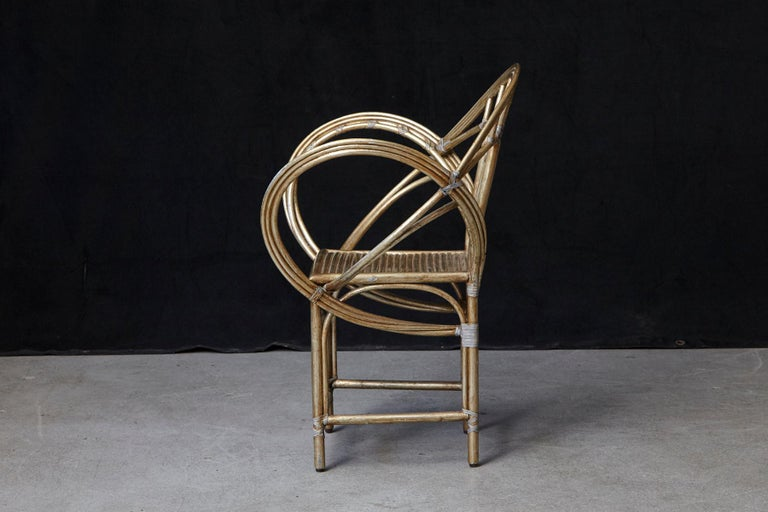 20th Century McGuire Butterfly Chair, M-131 in Gold Tone Finish For Sale