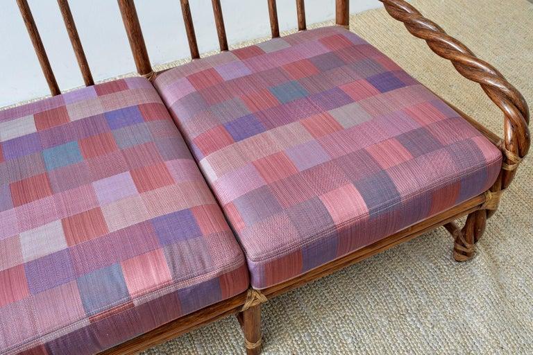McGuire California Organic Modern Twisted Rattan Sofa For Sale 3
