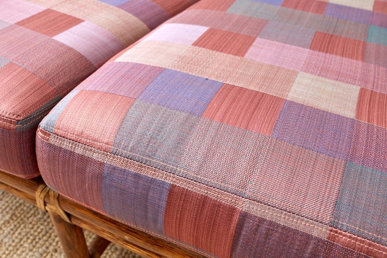 McGuire California Organic Modern Twisted Rattan Sofa For Sale 5