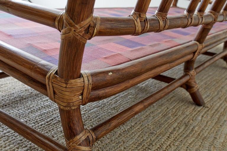 McGuire California Organic Modern Twisted Rattan Sofa For Sale 10