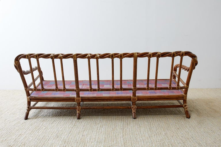 McGuire California Organic Modern Twisted Rattan Sofa For Sale 12