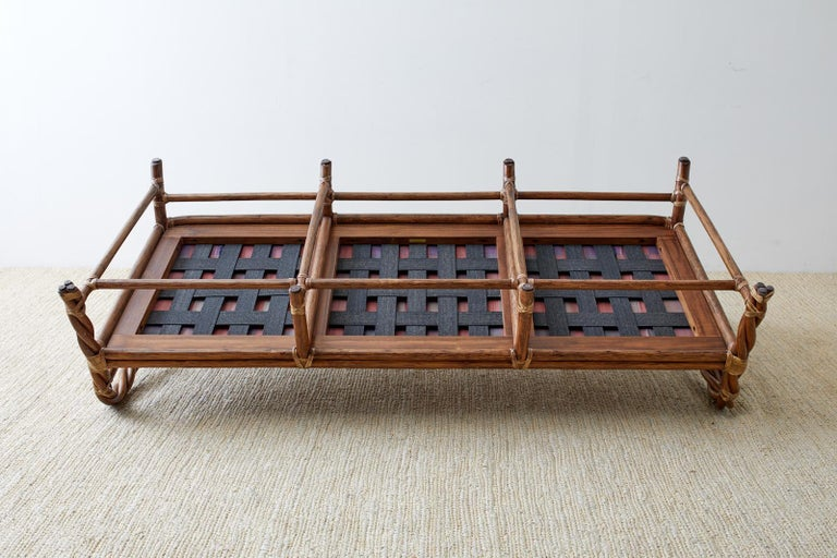 McGuire California Organic Modern Twisted Rattan Sofa For Sale 13