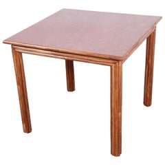 McGuire Midcentury Hollywood Regency Rattan Dining or Game Table